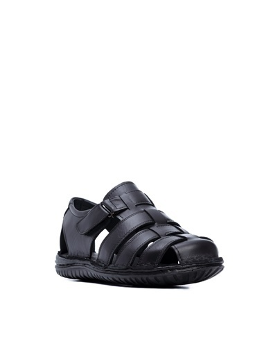 Kemal Tanca Kemal Tanca Erkek Vegan Sandalet Sandalet Siyah